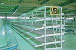 パレット収納傾斜棚|物流収納保管棚|収納保管什器から改修 ...